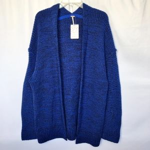 Free People Women's Forever Blue Knit Cardigan NEW